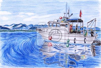 ilustrace Yacht rybaření