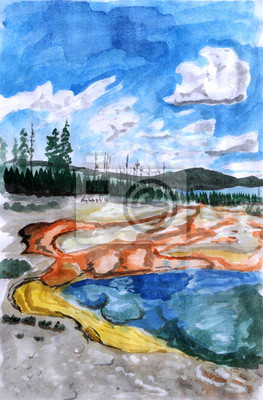 ilustrace Yellowstone