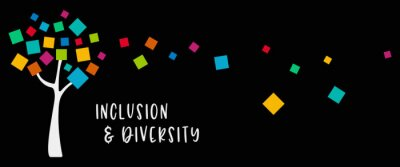 Obraz Inclusion and diversity infographic tree vector set, multi color leaves represent inclusion and diversity social