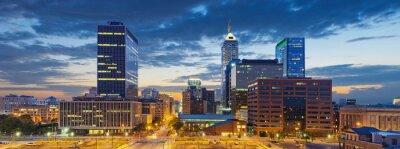 Obraz Indianapolis. Obrázek Indianapolis panorama při západu slunce.