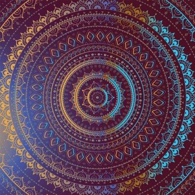 Obraz Indická dekorativní vzor.