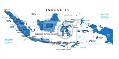 Indonésie mapa