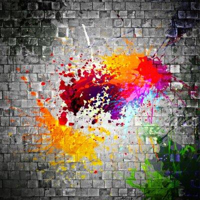 Obraz inkoust postříkat na kamennou zeď