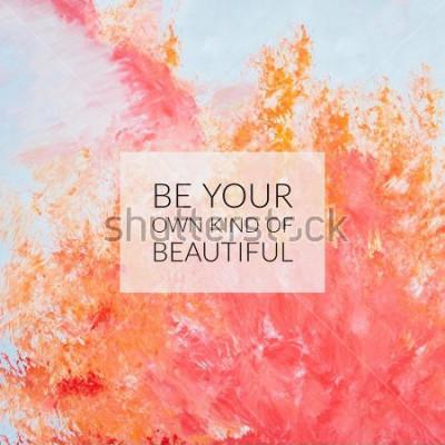 Obraz Inspirační motivace cituje o životě