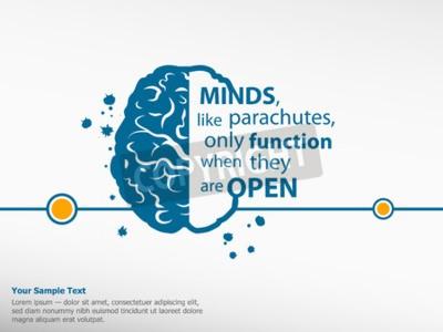Obraz Inspirující motivační citát na mozku pozadí