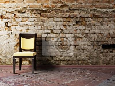 Interiérový design scéna s židlí