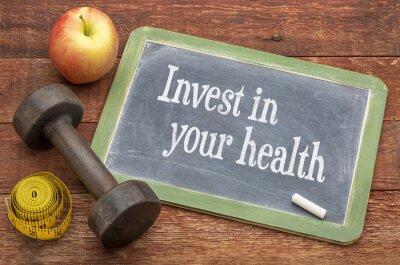 Obraz Investujte do vaší zdravotní poradenství na tabuli