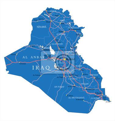 Irák mapa