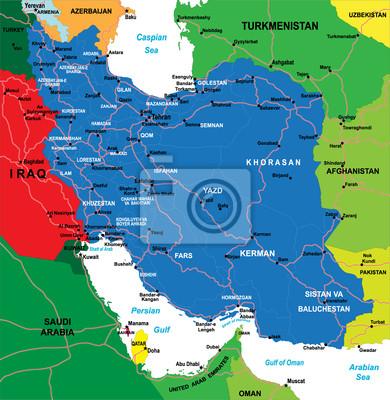 Írán mapa