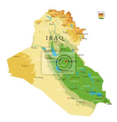 Iraq physical map
