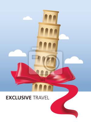 Obraz Itálie, Exkluzivní cestování, Pisa, Řím, Koloseum, Landmark