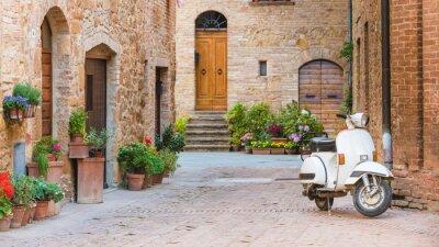 Obraz Italské ulice v toskánském městečku a populární single-tr