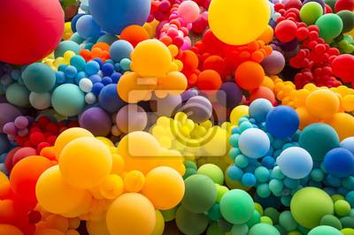 Obraz Jasné abstraktní pozadí míchání duhových barevné balónky oslavující gay hrdost