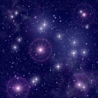 Obraz Jasné hvězdy ve vesmíru