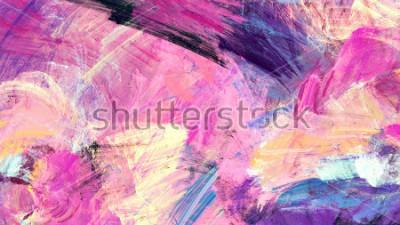 Obraz Jasné umělecké postříkání. Abstraktní malba barevné textury. Moderní futuristický vzor. Vícebarevné dynamické pozadí. Fraktální umělecká díla pro tvůrčí grafický design.