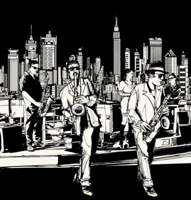 Obraz Jazz band hrál v New Yorku