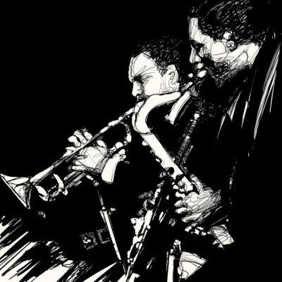 Obraz jazz mosaz hudebník