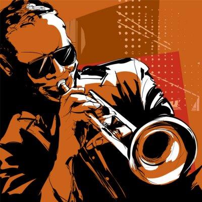 Obraz Jazz trumpetista