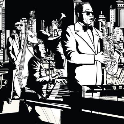 Obraz Jazzová kapela hraje v New Yorku
