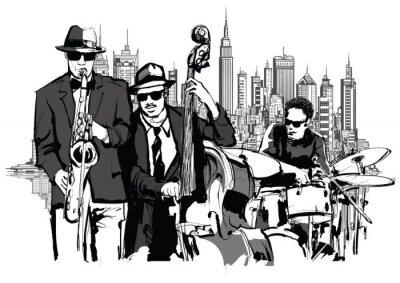 Obraz Jazzová kapela v New Yorku