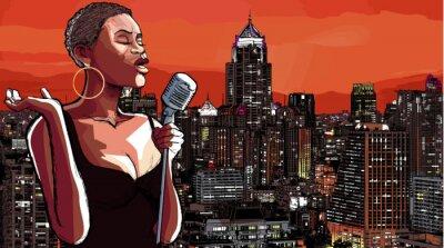Obraz jazzová zpěvačka