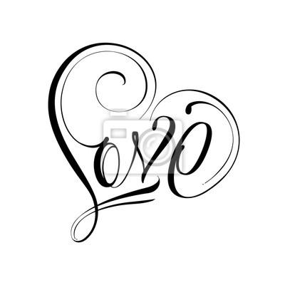 Jeden Laska Znameni Obrazy Na Stenu Obrazy Valentine Card Kresba