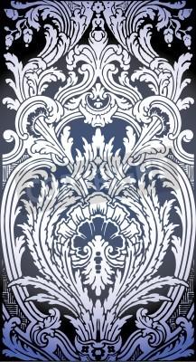 Obraz Jedna patrona bezešvé vzor Luis XIV ložnice