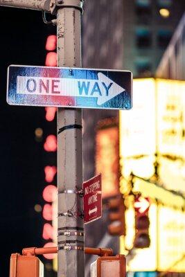 Obraz Jedním ze způsobů, New York dopravní značka