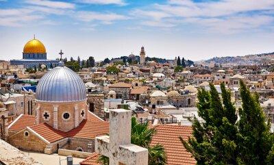 Obraz Jerusalem panoramic roof view