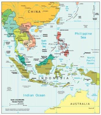 Obraz Jihovýchodní Asie politické divize