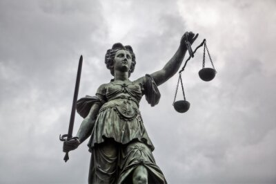 Obraz Justitia socha ve Frankfurtu nad Mohanem