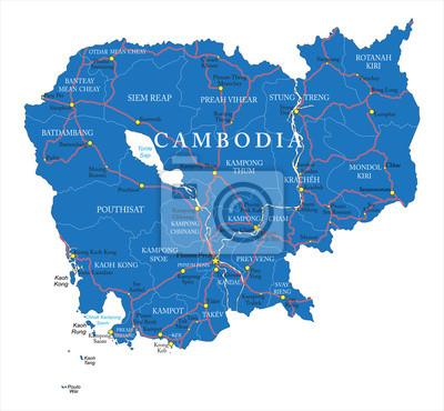 Kambodža Mapa