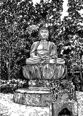 Obraz kámen Buddha