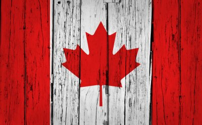 Obraz Kanada vlajka Grunge pozadí