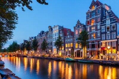 Obraz Kanály Amsterdamu.