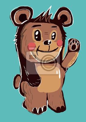 karikatura medvěd