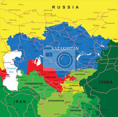 Kazachstán mapa