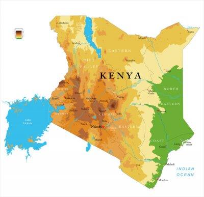 Kenya physical map