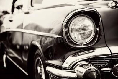 Obraz Klasické auto se zblízka na světlometech