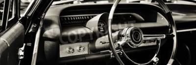 Obraz Klasické auto vyfotografované z řidiče