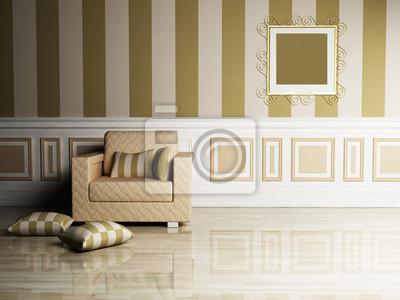 Klasický design interiéru obývacího pokoje