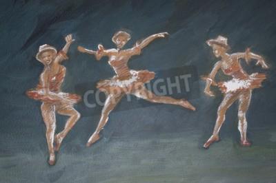 Obraz klasický ženský baletní tanečníci ilustrace umění