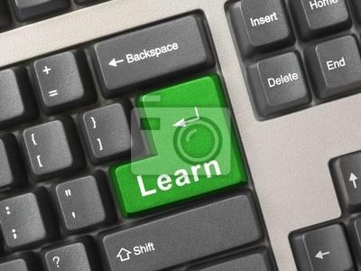 Klávesnice počítače s klíčem Learn