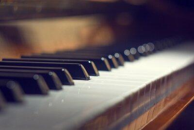 Obraz Klavír klávesnice pozadí s selektivní zaměření