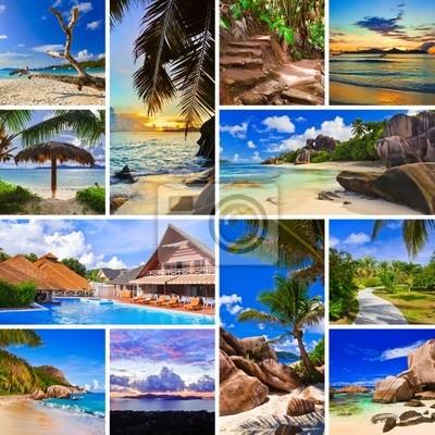 Koláž letní pláž obrázků