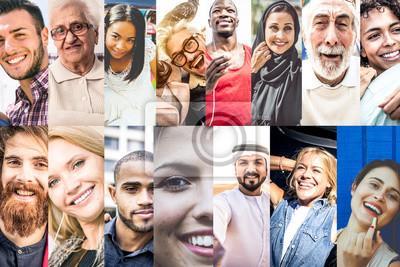 Obraz Koláž s lidmi ze světa