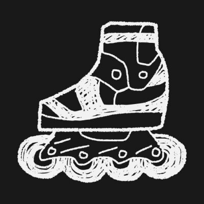 Obraz Kolečkové brusle doodle