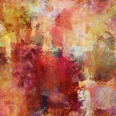 Obraz Kombinovaná technika malování podzimních barvách