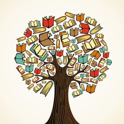 Obraz Koncepce vzdělávání strom s knihami