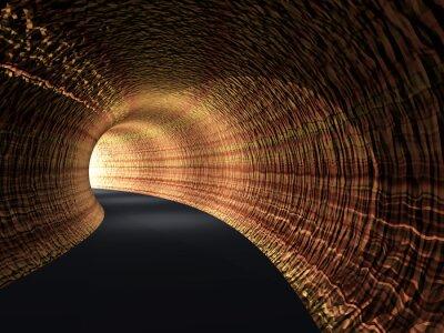 Obraz Konceptuální abstraktní silniční tunel se světlem na konci